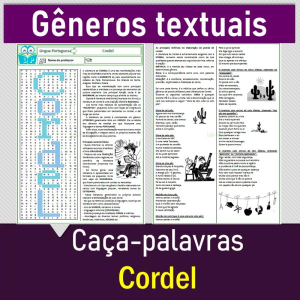 Cordel – caça-palavras