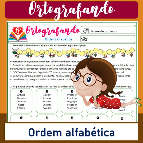 Ordem alfabética – Ortografando