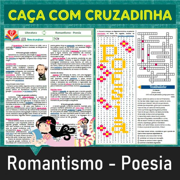 Romantismo – Poesia – Caça com cruzadinha