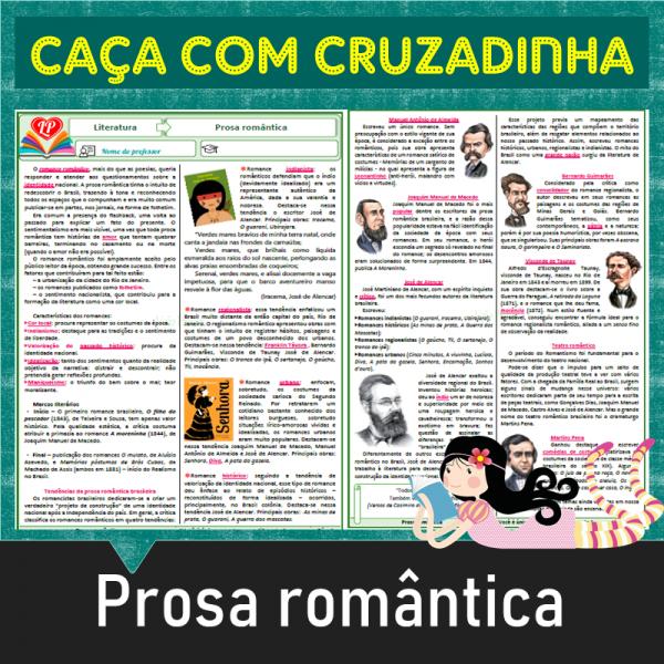 Romantismo – Prosa – Caça com cruzadinha