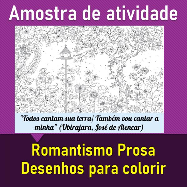 Romantismo Prosa – Desenhos para colorir