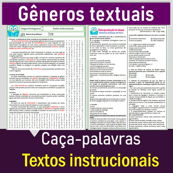 Textos instrucionais – caça-palavras
