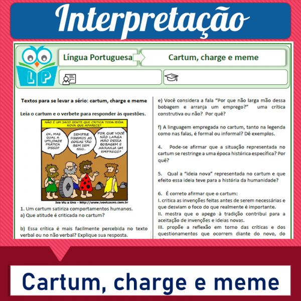 Cartum, charge e meme – Interpretação