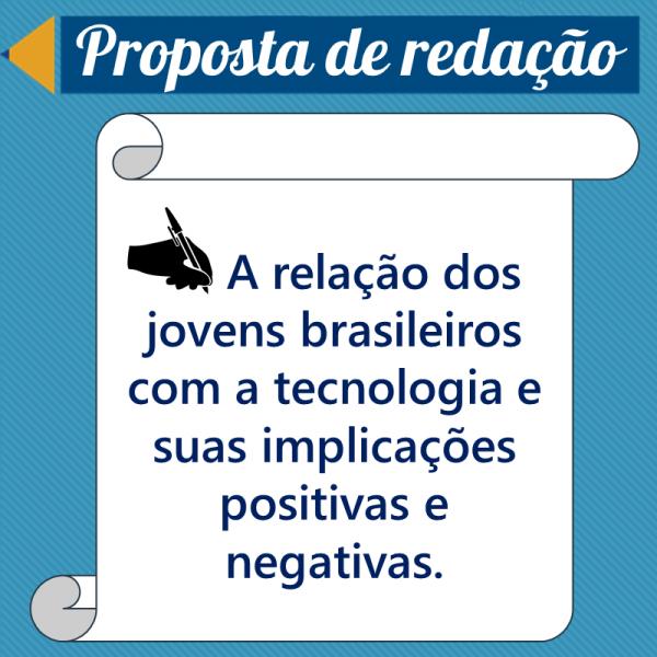 A relação dos jovens brasileiros com a tecnologia e suas implicações positivas e negativas. – Propostas de redação