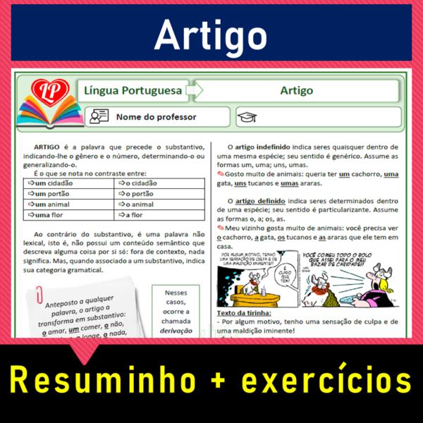 Artigo – resuminho + exercícios