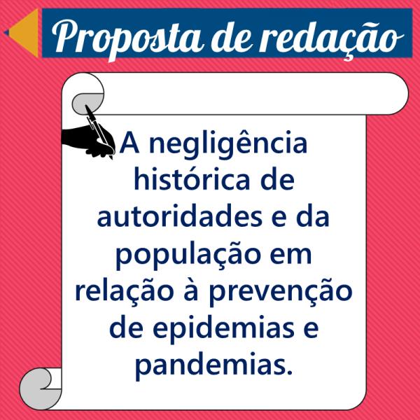 A negligência histórica de autoridades e da população em relação à prevenção de epidemias e pandemias. – Proposta de redação