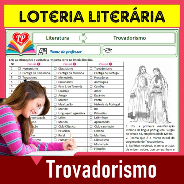 Trovadorismo – Loteria literária