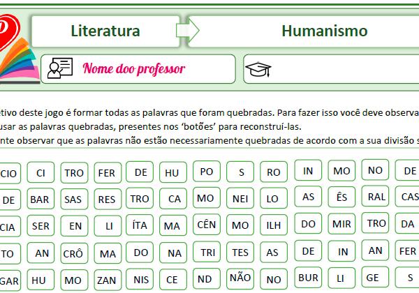 Humanismo – Palavras quebradas
