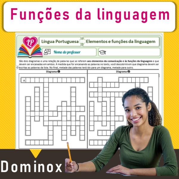 Elementos e funções da linguagem – Dominox