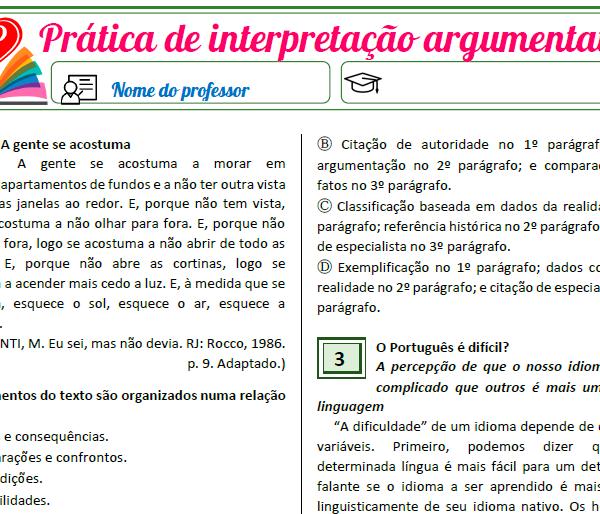 Prática de interpretação argumentativa 1