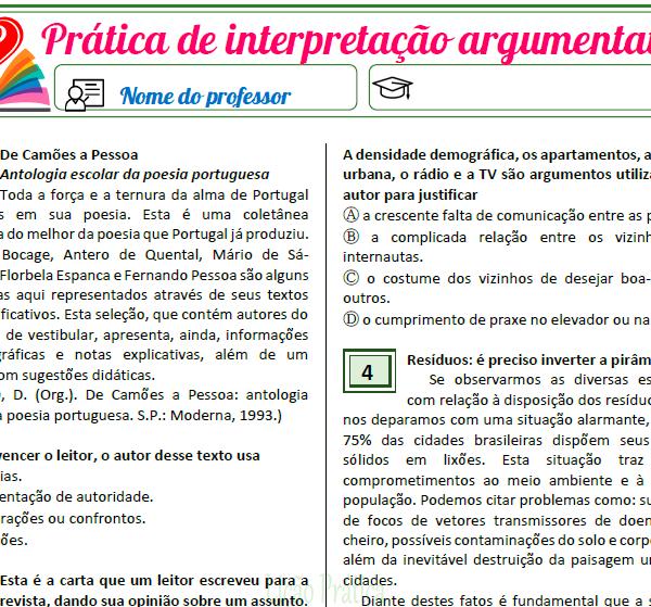 Prática de interpretação argumentativa 2