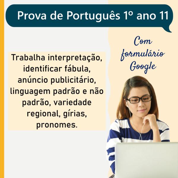 Prova de português – 1º ano 11