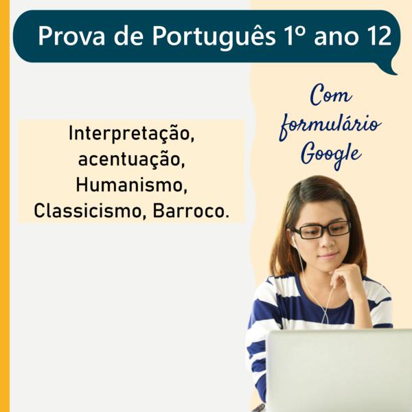 Prova de português – 1º ano 12