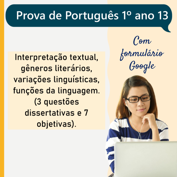 Prova de português – 1º ano 13