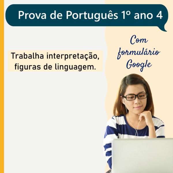 Prova de português – 1º ano 4