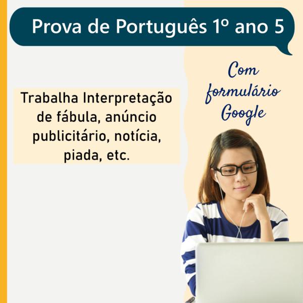 Prova de português – 1º ano 5
