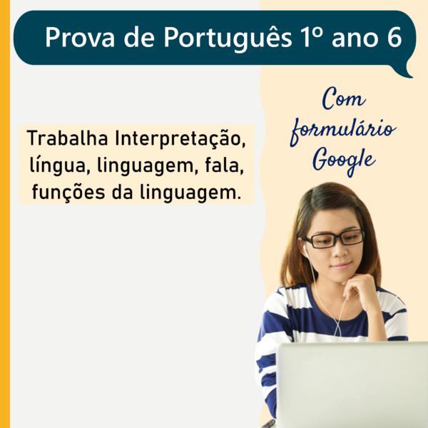 Prova de português – 1º ano 6