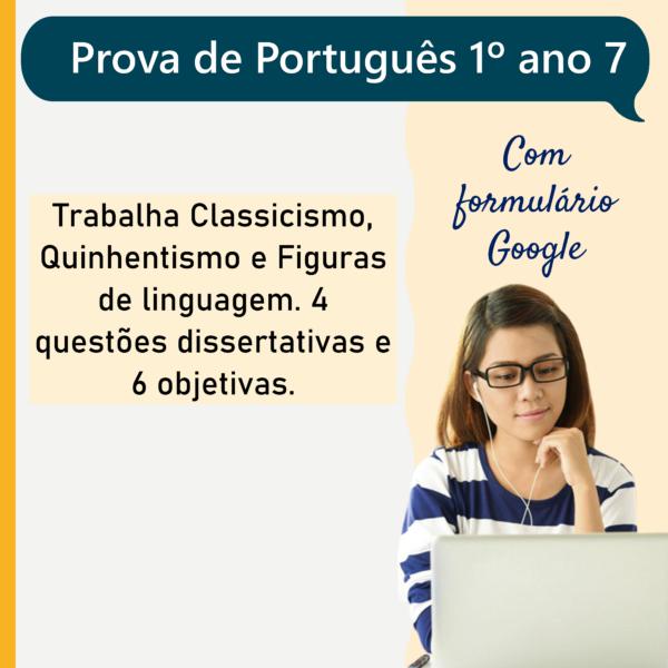 Prova de português – 1º ano 7