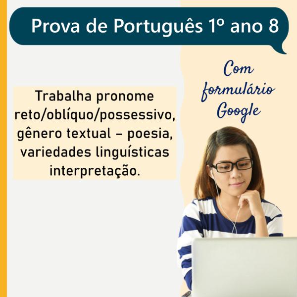 Prova de português – 1º ano 8