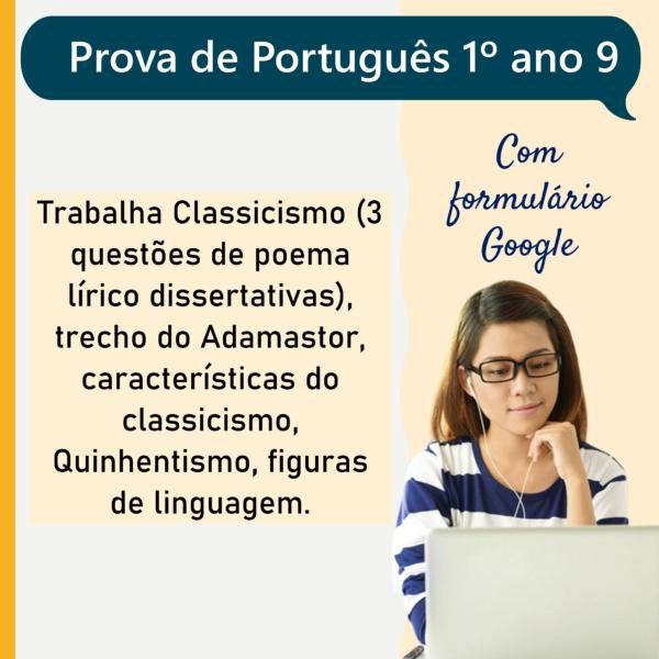 Prova de português – 1º ano 9
