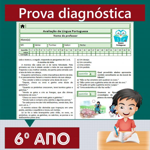 Prova diagnóstica 6º ano