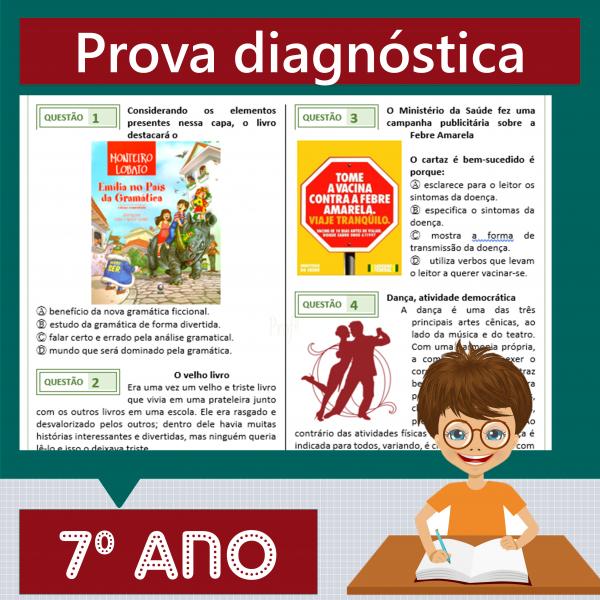 Prova diagnóstica 7º ano
