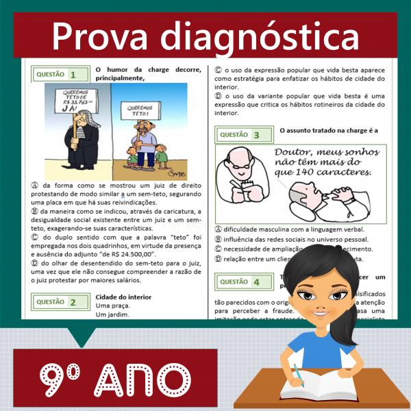 Prova diagnóstica 9º ano