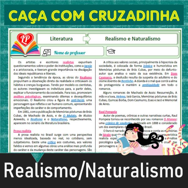 Realismo-Naturalismo – Caça com cruzadinha