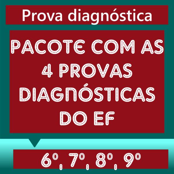 Pacote Provas diagnósticas EF