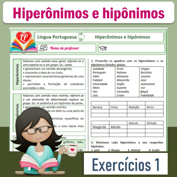 Hiperônimos e hipônimos – Exercícios 1