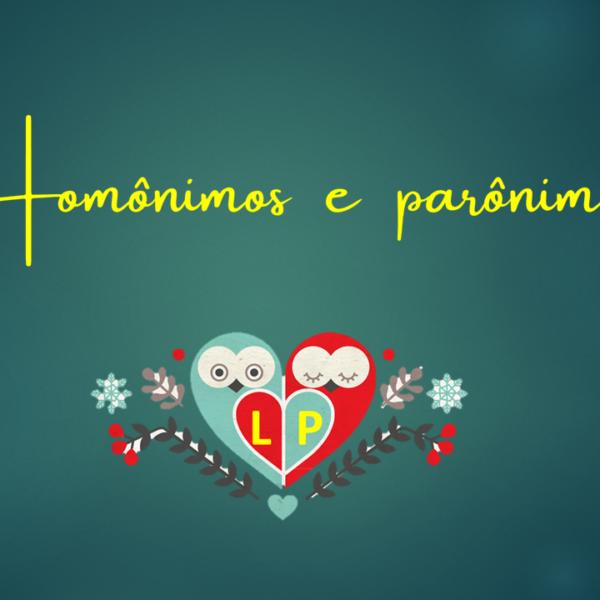 Homônimos e parônimos – Exercícios 2