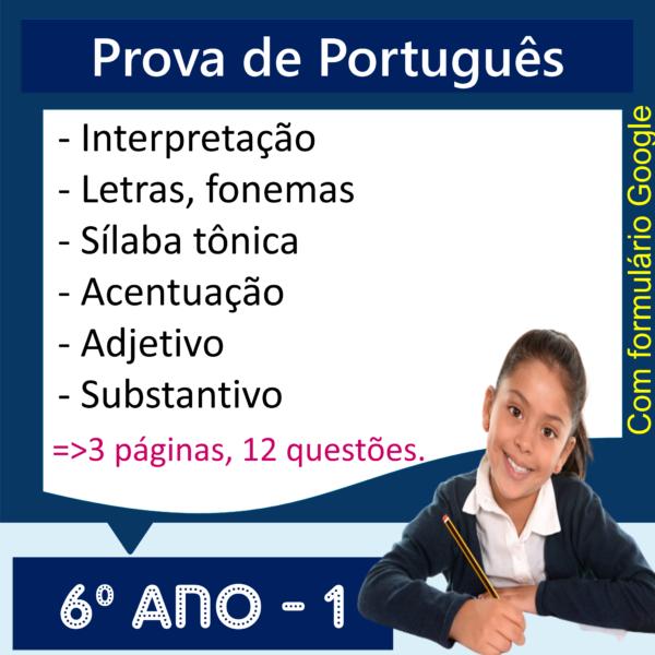 Prova de Português – 6º ano 1