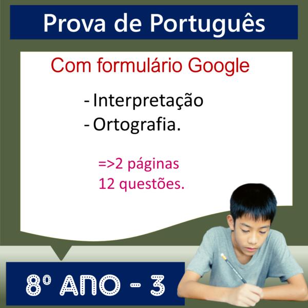 Prova de Português – 8º ano 3