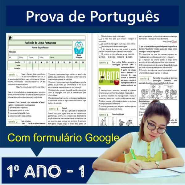 Prova de português – 1º ano 1