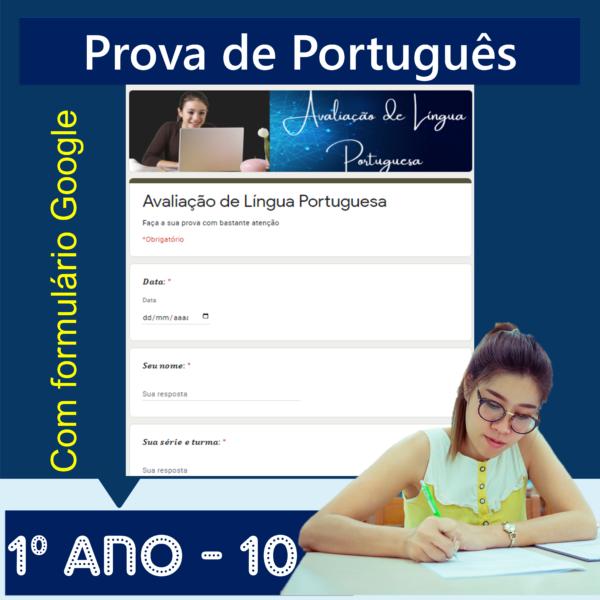 Prova de português – 1º ano 10