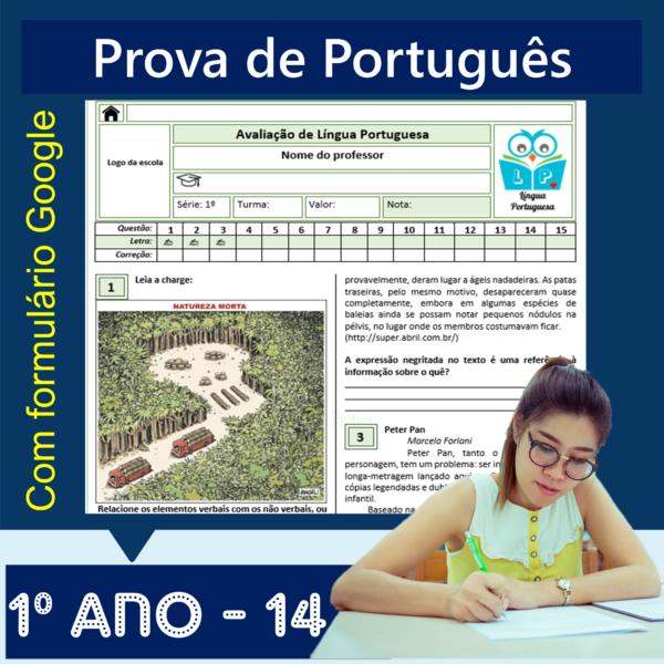 Prova de português – 1º ano 14