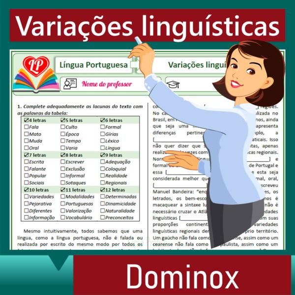 Variações linguísticas – Dominox 1