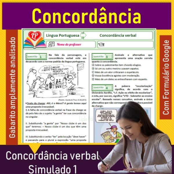 Concordância verbal  – Simulado 1
