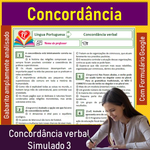 Concordância verbal – Simulado 3