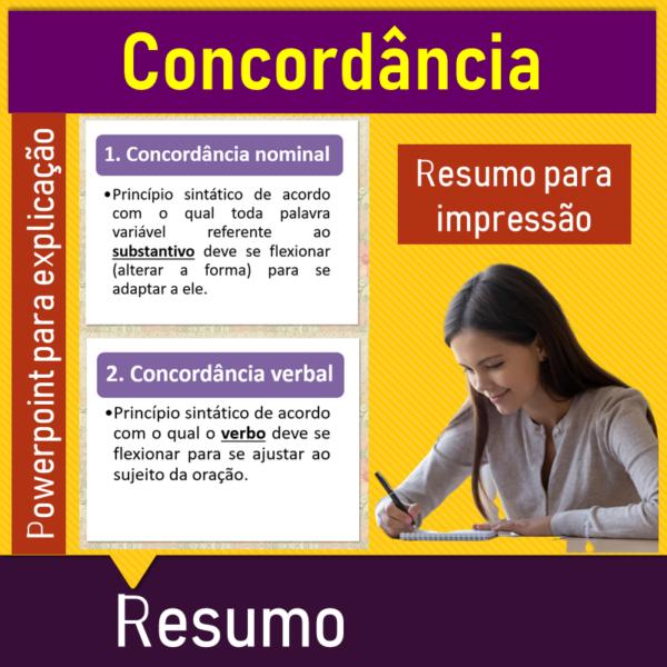 Concordância verbal e nominal – Resumo
