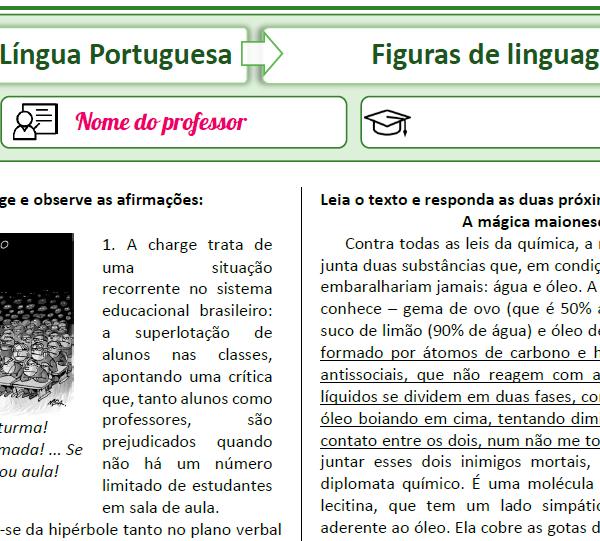 Figuras de linguagem – Simulado 4