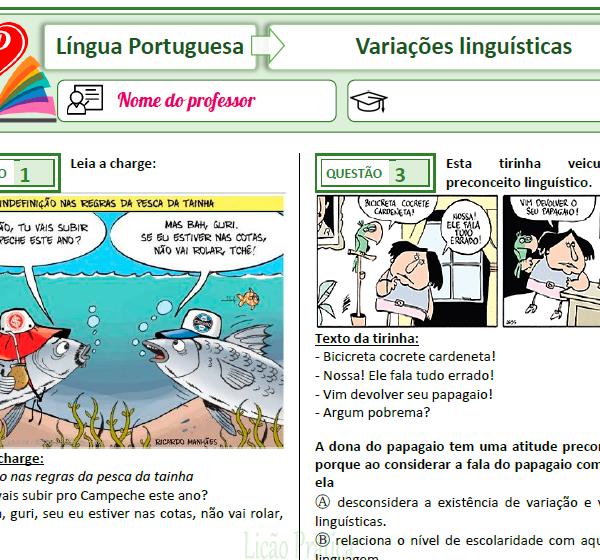 Variações linguísticas – Simulado 4