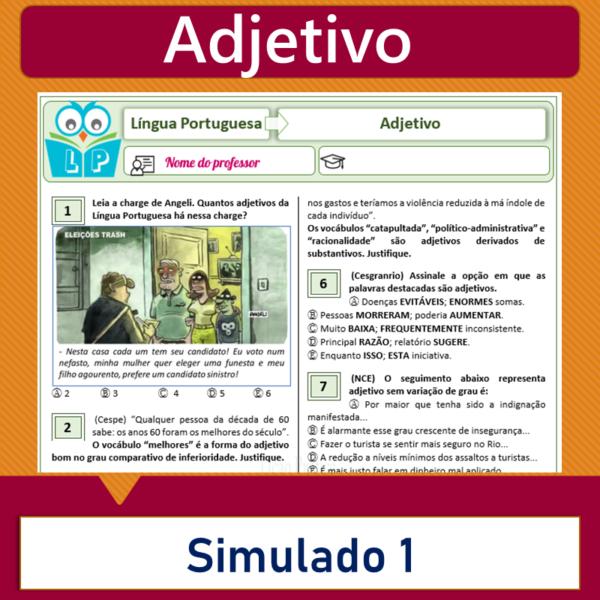 Adjetivo – Simulado 1