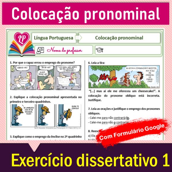 Colocação pronominal – Exercício dissertativo 1