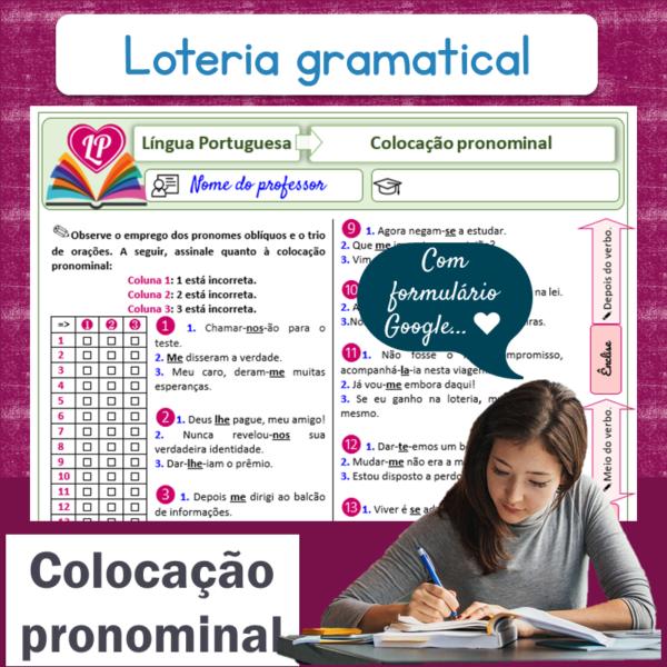 Colocação pronominal – Loteria gramatical 1