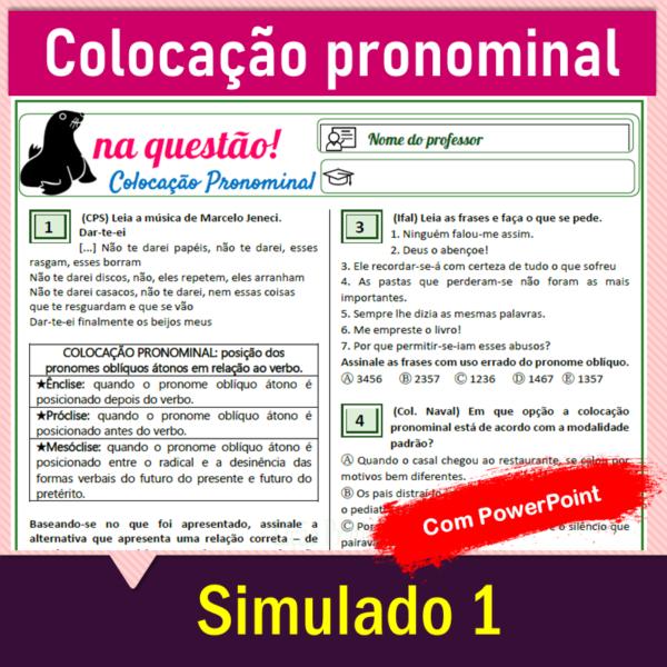 Colocação pronominal – Simulado 1