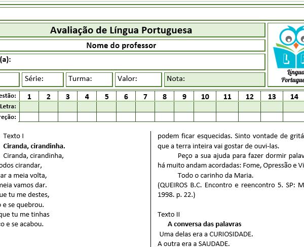 Prova de português – 2º ano 3