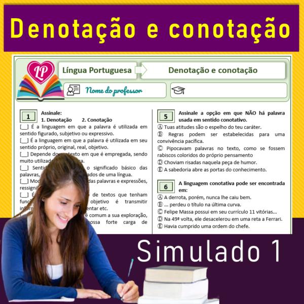 ✎ Novidade – Denotação e Conotação – Simulado 1