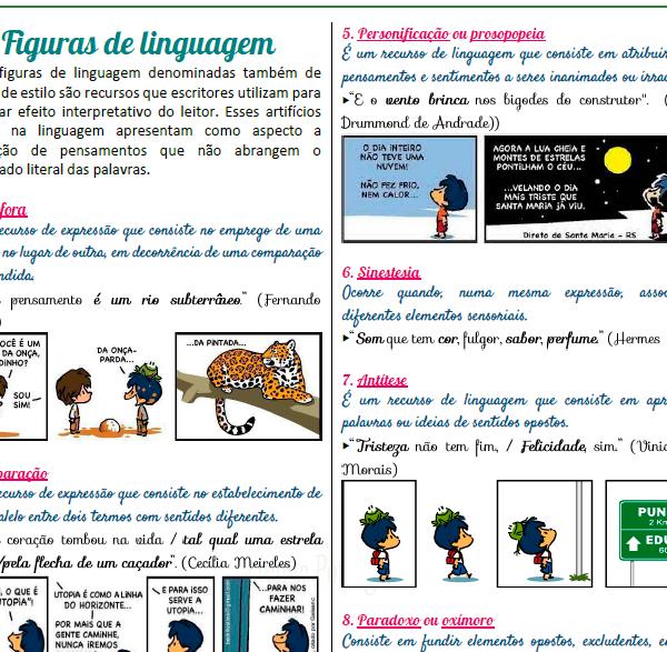 Batalha das coordenadas – Figuras de linguagem