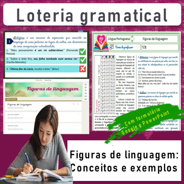 Figuras de linguagem (Conceito e exemplo) – Loteria gramatical 2